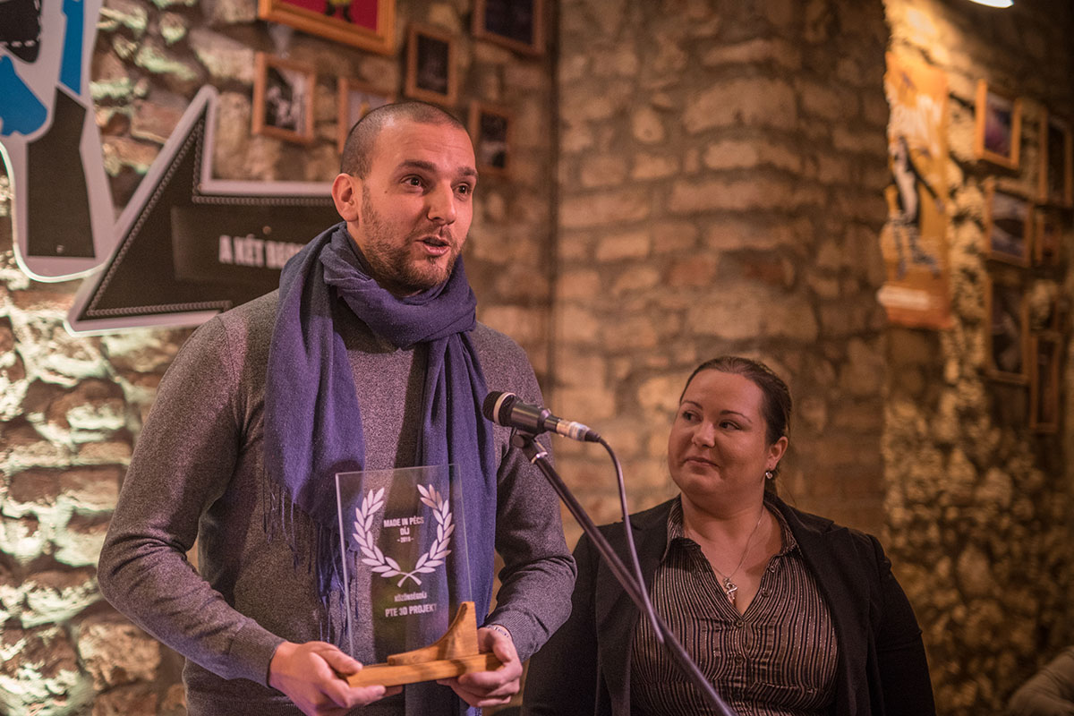 "The PTE 3D Project won the ""Audience Award of Made in Pécs"" in 2018"